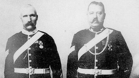 John Williams VC on left with Sgt Alfred H Hook