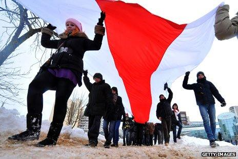 Anti-government protest in Belarus, March 2013