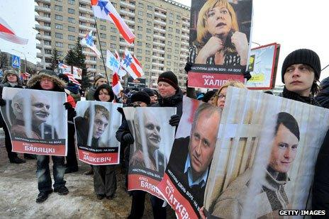 Human rights protest in Belarus