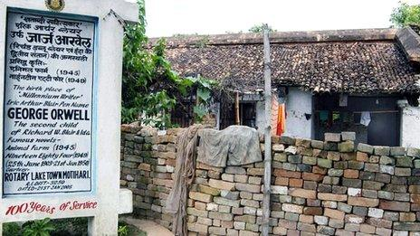 Orwell's birthplace, Bihar State, India