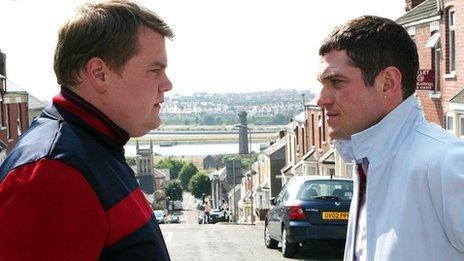 James Corden and Mathew Horne in Gavin and Stacey