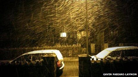 Snow in Princetown
