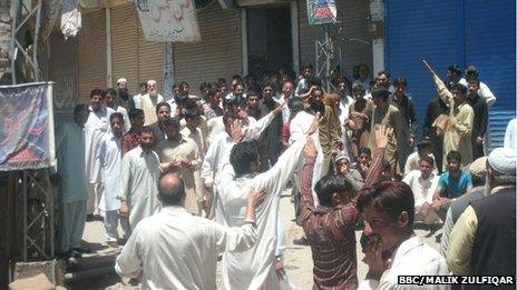 Protesters in Hajira