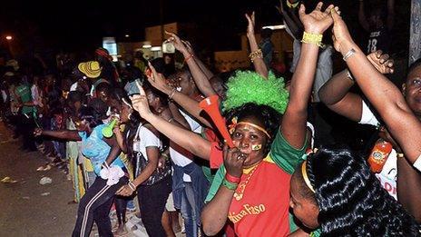 Burkina Faso football fans
