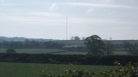 The TV mast at Waltham
