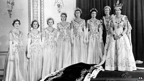 The Queen and her maids of honour