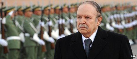Algerian President Abdelaziz Bouteflika during a visit to Ghardaia, 2008