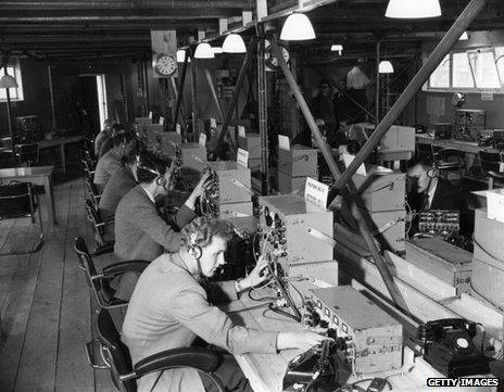 Control room from which the coronation was broadcast