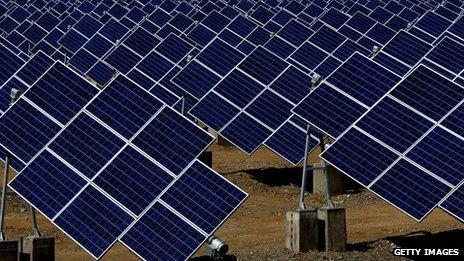 Chinese solar panels