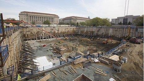 Construction site for National Museum of African American History and Culture