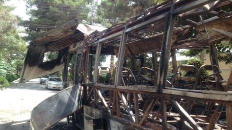 Bus on which Sajila Gujjar died in Quetta on 15 June 2013