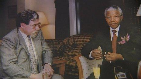 Brian Filling arranged for Nelson Mandela to visit Glasgow