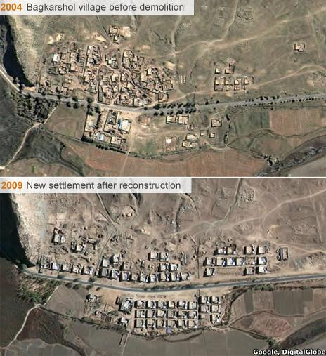 Chinese village before/after