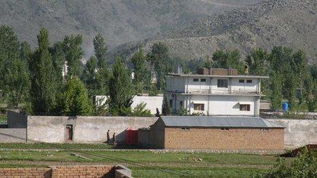 Osama Bin Laden's compound in Abbottabad, north-west Pakistan