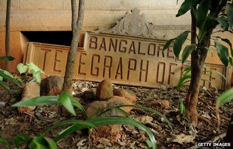 """Old sign """"Bangalore Telegraph Office"""""""
