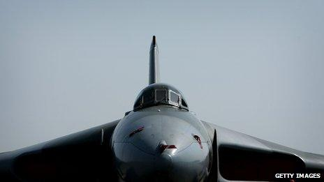A restored Vulcan bomber