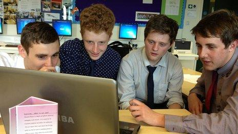 Sixth form students