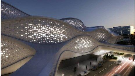 Design of Kafd Metro station, Riyadh by Zaha Hadid