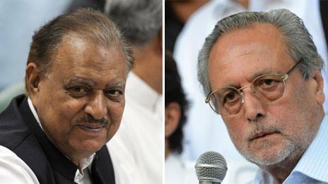 Mamnoon Hussain (L) and Wajihuddin Ahmad