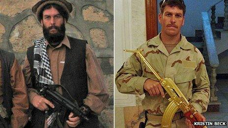 Chris Beck during his time as a Navy Seal