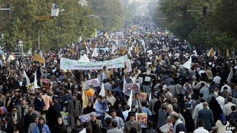 Anti-Israel rally in Tehran (file photo)