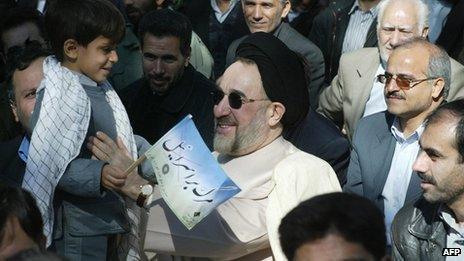 Former pro-reform president, Mohammad Khatami, attending a 2003 Jerusalem Day rally