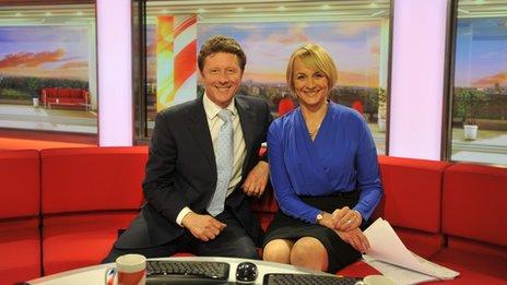 Charlie Stayt and Louise Minchin