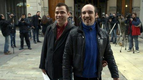 Sergio Miranda (left) and Rodrigo Borda (right)