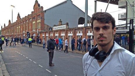 Twenty-two year old Fulham fan Lorcan O'Connor