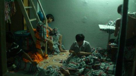 Children working at a garment factory raided for holding children against their will