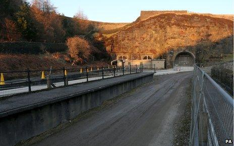 One of the exits to the Woodhead Tunnels