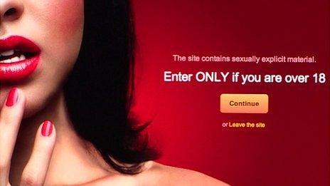 Pornography website page
