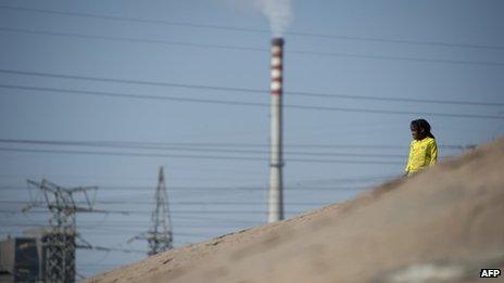 Lonmin's platinum smelter in Marikana