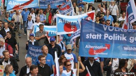 Alternative fuer Deutschland rally in Hamburg (17 August 2013)