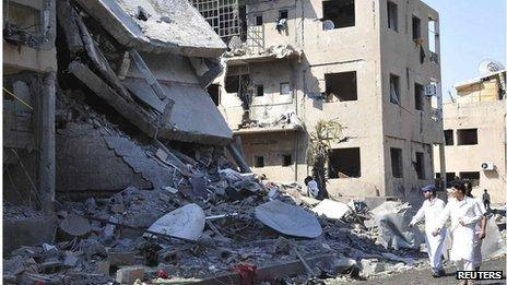 Bombed building in Syria