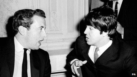 Sir David Frost with Sir Paul McCartney in 1965