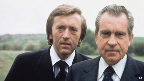 Sir David Frost with former US President Richard Nixon