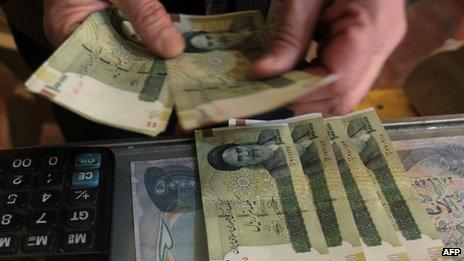 Iranian rial banknotes - file pic