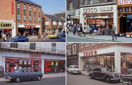 Various Tesco stores. Pictures courtesy of Tesco
