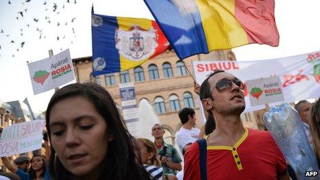 Bucharest march against gold mine project, 8 Sep 13