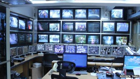 The control room in Chungking Mansions