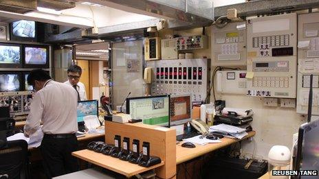 Control room, Chungking Mansions
