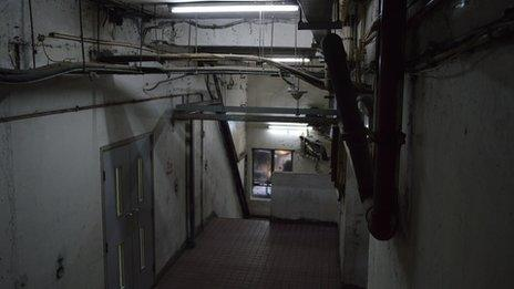 Corridor in Chungking Mansions