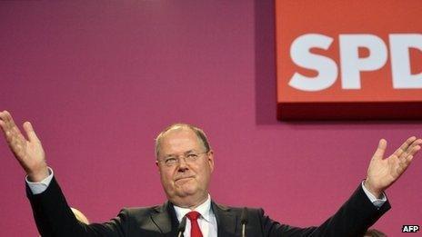 SPD leader Peer Steinbrueck