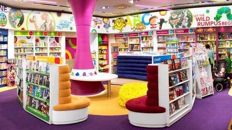 Children's section in Eason's