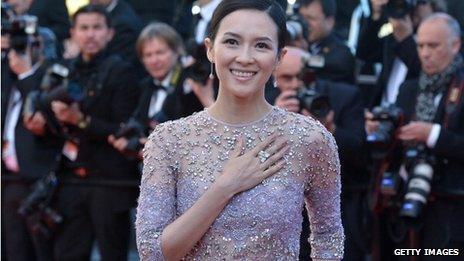 Zhang Ziyi in Cannes, 2013