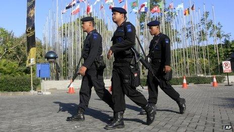Police patrol Miss World (28 Sept)