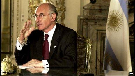 Fernando de la Rua, 19 Dec 2001