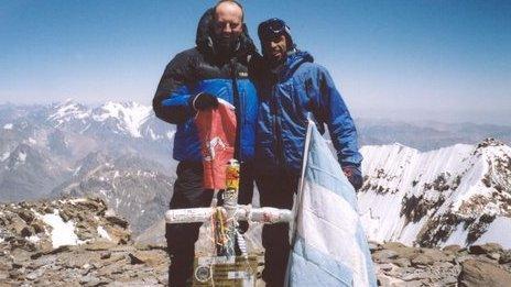 Aconcagua summit, South America. February 2004