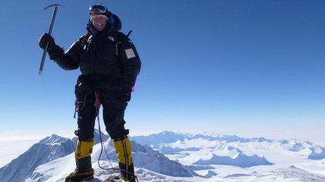 Vinson summit, Antarctica. December 2010